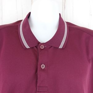 Adidas Lg Climalite Golf Polo Shirt S/S Maroon